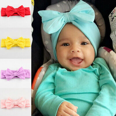Baby Girl Kids Toddler Bow Headband Hair Band Accessories Headwear Head Wrap