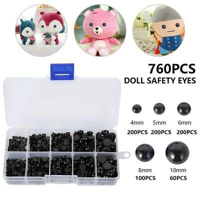 760PCS Various Safety Eyes Noses for Teddy Bear Making Soft Toys Animal Dolls