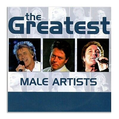 THE GREATEST MALE ARTISTS - Compilation Album ( PROMO MUSIC CD )