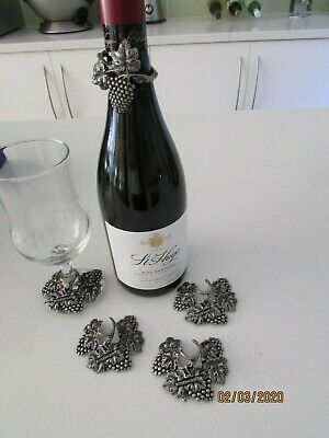 Retro / Vintage Silver, Wine Glass and Bottle rings decorations Rosemount