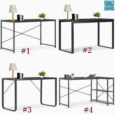 Industrial Style Computer Desk Workstation Laptop Writing PC Table Home Office