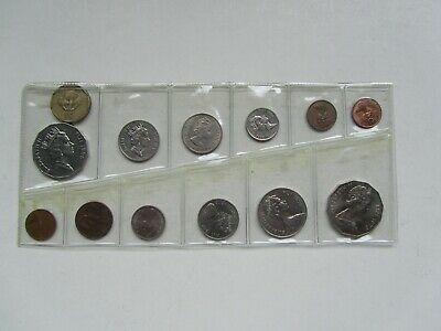 13 Fijian Coins From 1955 To 1995
