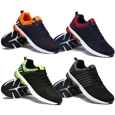 Men's Mesh Running Trainers Athletic Walking Gym Shoes Sport Run Size Lace Up UK