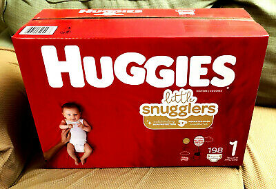 *NEW* Box of HUGGIES Little Snugglers DIAPERS 198 Count Size 1 LOCAL PICKUP ONLY