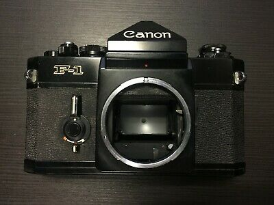 Canon F-1 F1 35mm SLR Film Camera Body Only, Black - Professional / Classic
