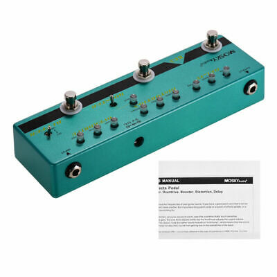 MOSKY Multi Effect Guitar DELAY DISTORTION BOOSTER OVERDRIVE BUFFER Effect Pedal