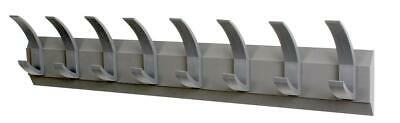 ACORN Hat and Coat Wall Rack with Concealed Fixings 8 Hooks Graphite - 319883