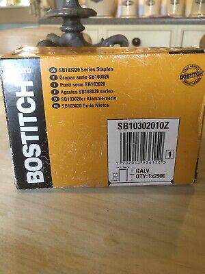 10 bxs x 2,900 Bostitch SB10302010Z Staples 10mm for P50-10B /& P51-10B