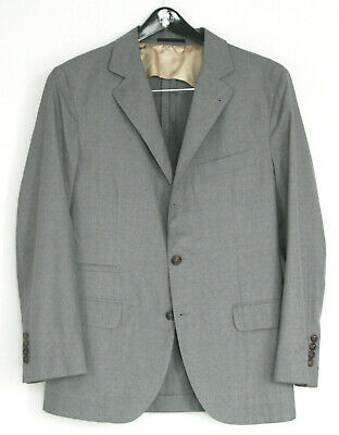 BRUNELLO CUCINELLI $2,495 light weight gray blazer wool sportcoat jacket 50-IT