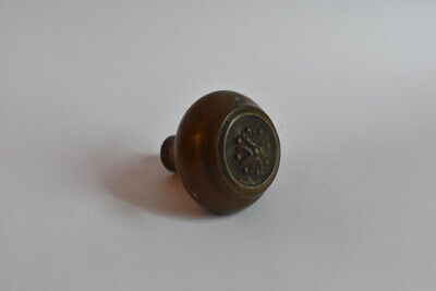 Cast Brass or Bronze Door Knob Concentric Circles Antique Salvage Shifter Old