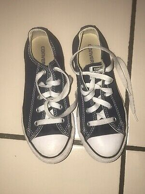 Converse Girls Boys Navy Blue Shoes Size 2