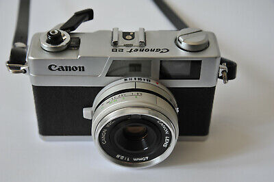 CANON Canonet 28 Film TESTED Rangefinder Camera MADE in JAPAN 40mm f/2.8