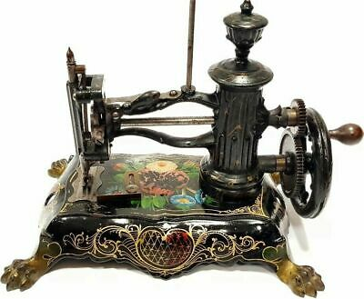 Antigua maquina de coser SHAW & CLARCK victoriana de 1871 antique sewing machine