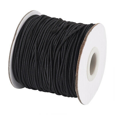 45m Black Round Elastic Cord 1.5mm Jewelry Nylon Thread DIY Craft Stretch String