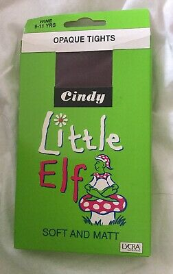 Gorgeous Opaque Tights Age 9-11 Wine Wedding Christening Party Fancy Dress Schoo