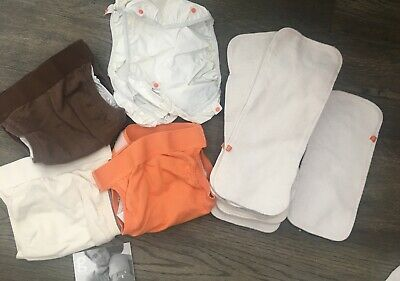 Gdiapers lot of 3 medium gpants + 2 Waterproof Liners And 6 Cloth liners