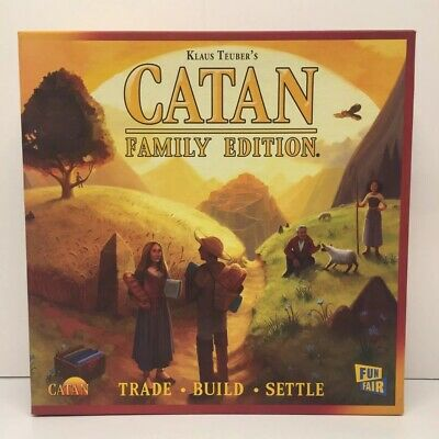 NIB Catan Family Edition Trade Build Settle Board Game Complete Cards Sealed