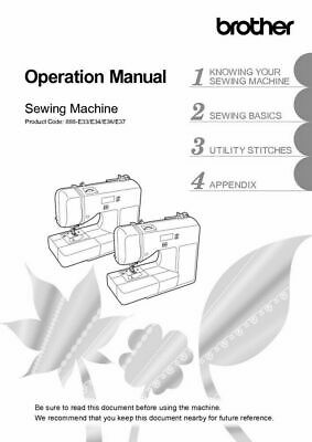 Brother PR-650 PR-650C Embroidery Machine Owners Instruction Manual Reprint
