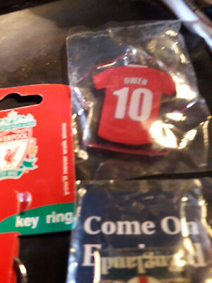 Liverpool Fc Retro Keyring Owen 10 New Wrapped