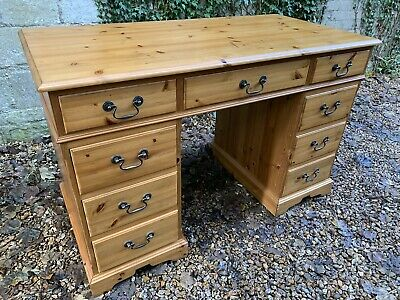 Antique Style Solid Pine Pedestal Desk  . Delivery Available Most Areas