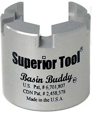 Superior Tool 03825 Basin Buddy Faucet Nut Wrench-Wrench to grab metal, pvc, pla