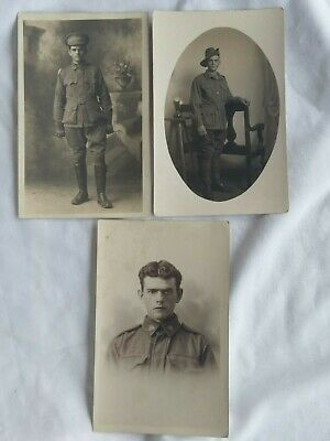 Australian WW1 photo postcards x 3.  Named. Divisional Signal Company.
