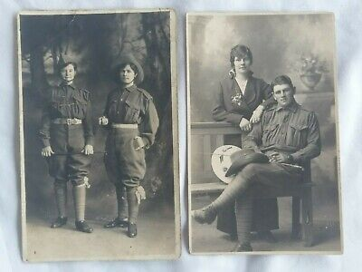 Australian WW1 photo postcards x 2.  Named. 8th Light Horse. Sister in uniform.