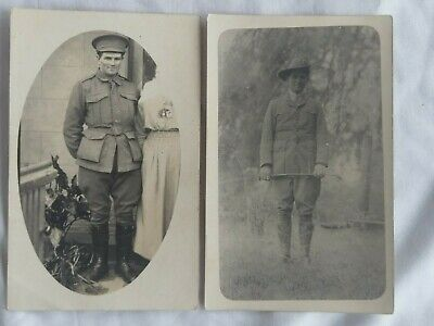 Australian WW1 photo postcards x 2. Early and late war. Named. 8th Light Horse.