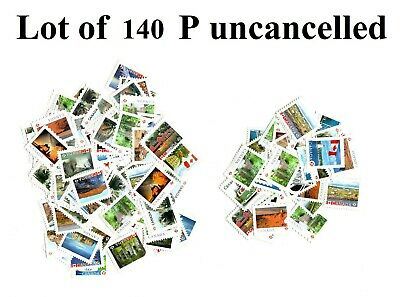 Lot of 140 P stamps 128,80$ Face Value MNG Canada Uncancelled Mint No Gum