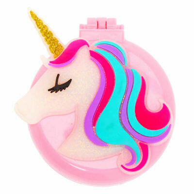 Pink Claire/'s Girl/'s Metallic Ombre Unicorn Head Paddle Hair Brush