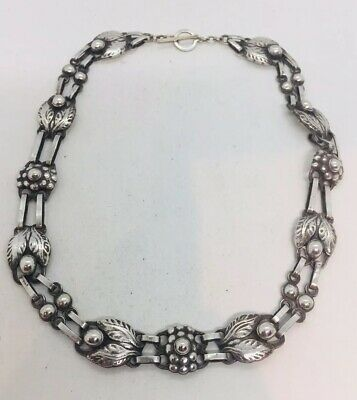 Georg Jensen Attributed Unsigned Antique Sterling Silver Necklace