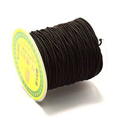 63~65m/roll Black Elastic Fibre Cord Jewelry Beading Thread Stretch String 0.8mm