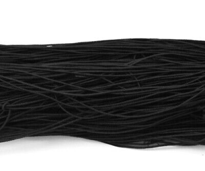 27m Elastic Fibre Cord Jewelry Beading  Thread Crafting Stretch String Black 1mm