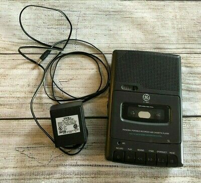 GE Personal Portable Recorder Cassette Player w/ Adapter 3-5027A 3-5027 Vintage