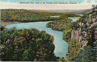 Vintage postcard, Hahatonka Arm, Lake of the Ozarks, near Camdenton, Missouri