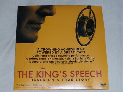 THE KING'S SPEECH For Your Consideration Screener DVD NTSC 2010 118 mins.