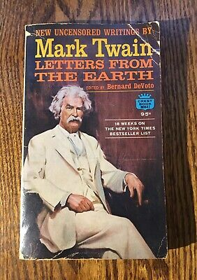 LETTERS FROM THE EARTH by Mark Twain vintage 1962 paperback CLASSIC AMERICAN LIT