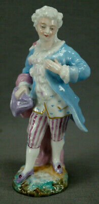 19th Century Dresden Style German / French Hand Painted Georgian Male Figurine
