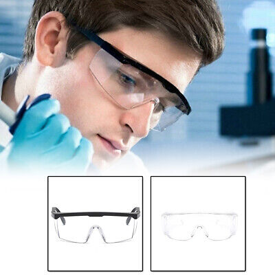 1X Clear Safety Goggles Eye Protection Glasses Work Anti Infection Splash