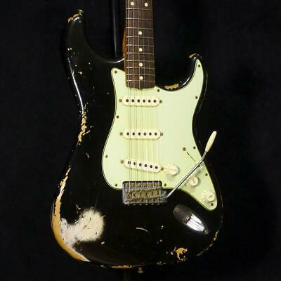 Used Fender Custom Shop 1960 Stratocaster Heavy Relic Faded Black '2013 *Jhy552