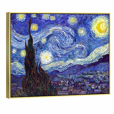 Starry Night Van Gogh Painting Fine Art Canvas Print Reproduction Poster Picture