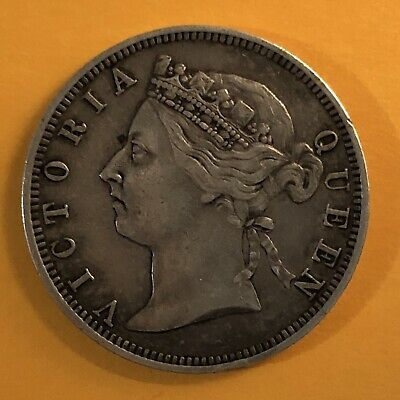1899 Straits Settlements,Queen Victoria,20 Cents Silver Coin, Malaysia/Singapore