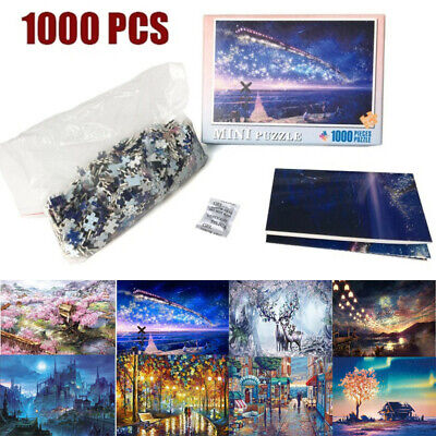 1000 Piece Jigsaw Puzzles Games Landscapes Cities Gifts Kids Toys 8 Pattern UK