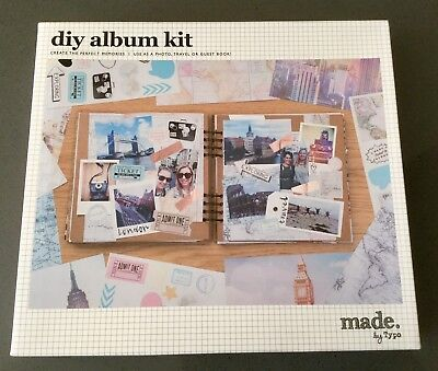 Scrapbooking Album Kit DIY Album And Printed Papers And Matching Stickers Travel