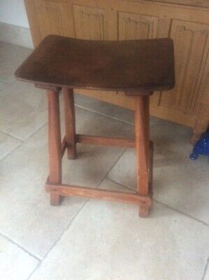 Rare ROWNTREE Chocolate Factory YORK Arts & Crafts Industrial Wooden Bench Stool