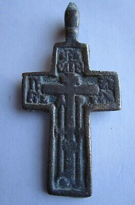 Russian Empire ancient orthodox bronze cross 1800s original Old believers Р4