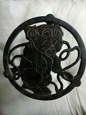 Vintage Art Deco Cast Iron Bonzo The Dog Trivet Stand 1930 1930s.