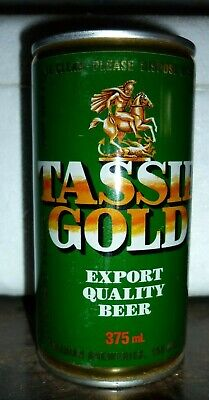 Collectable beer cans - Tassie Gold Export Quality Beer 375ml can