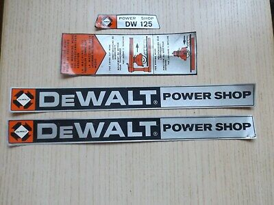 Full Set Of Dewalt Power Shop Arm Cover Stickers Now 1/2 Price