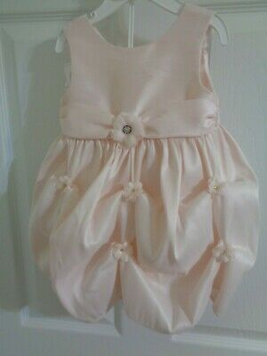 NWOT Infant Girl's 2 Piece Cinderella Pink Dress with Bloomers Size 18 M Free S